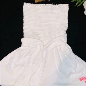 NWT Juicy Romper white terry cloth medium
